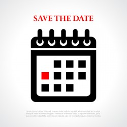 Save the date poster for RSVP management for events